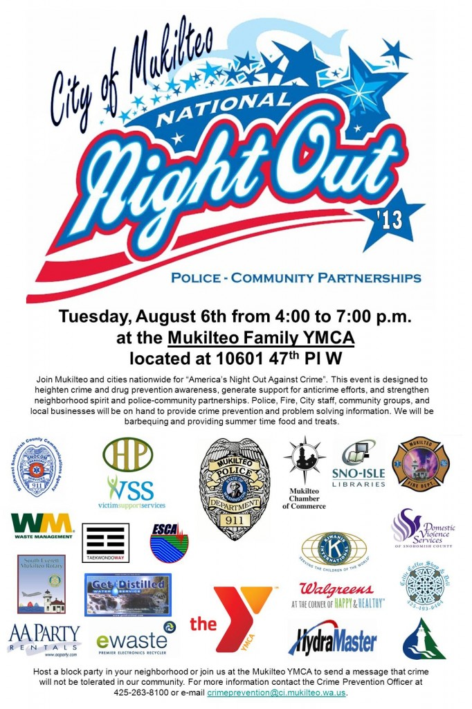 National Night Out 2013 poster